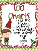 Christmas Activities 100 Charts (Hidden Pictures)