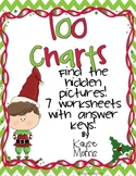 Christmas Activities 100 Charts (Hidden Pictures)