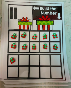 Christmas 10s Frames Numbers 1-20