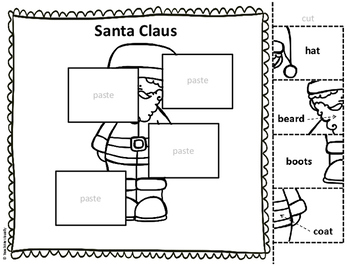 Christmas - Puzzle Parts and Labeling Activities (Set of 15)