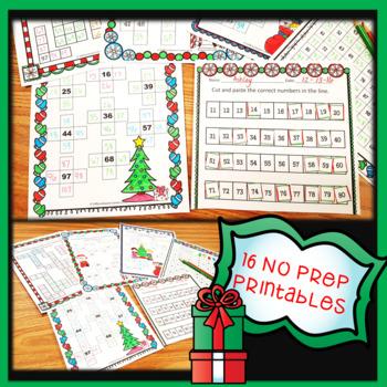 Christmas 120 Chart Worksheets