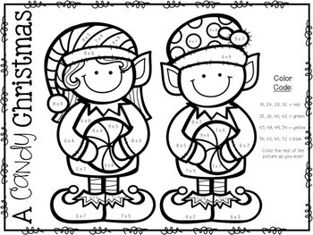 3rd Grade Christmas Math: 3rd Grade Christmas Multiplication  Christmas Activity