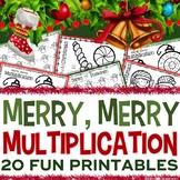 3rd Grade Christmas Math: 3rd Grade Christmas Multiplicati