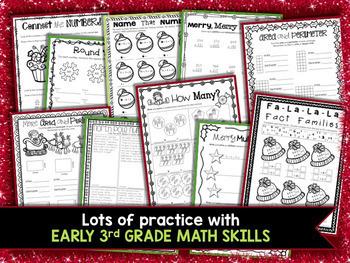 3rd Grade Christmas Activities: 3rd Grade Christmas Math Worksheets