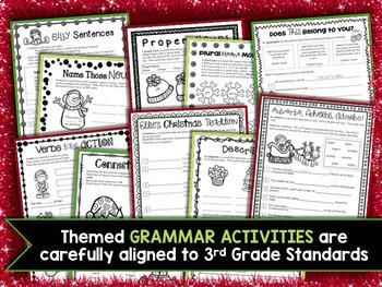 3rd grade christmas math grammar worksheets by kiki 39 s classroom. Black Bedroom Furniture Sets. Home Design Ideas