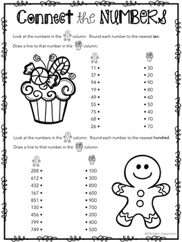 Christmas Math and Grammar for 3rd Grade - FREE