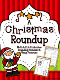 3rd Grade Christmas Math and Christmas Grammar  - FREE