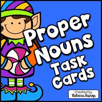 Christmas Proper Nouns Task Cards