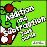 Christmas Themed Addition and Subtraction Task Cards for F