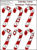 Christmas Math Activities: Candy Cane Number Patterns Christmas Math Center