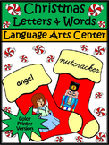 Christmas Game Activities: Christmas Stocking Letters & Words Activity - Color