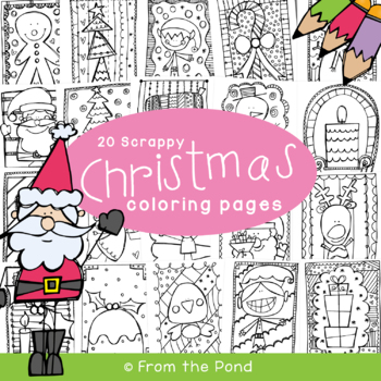 Christmas Coloring Packet {Scrappy Christmas Coloring}