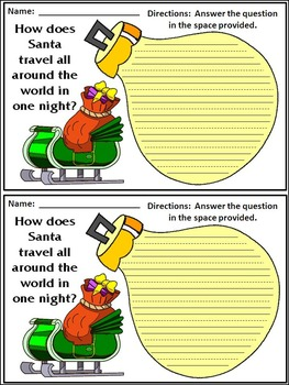 Christmas Writing Activities: Christmas Writing Projects Activity Packet - Color