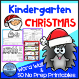 Christmas Worksheets: Christmas Kindergarten Math and Language Activities