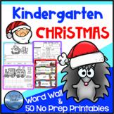 1w Christmas Worksheets: Christmas Kindergarten Math and L