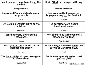 Christmas Around the World ELA/SS Centers for Upper Elementary