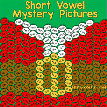 Christmas Word Family Mystery Pictures