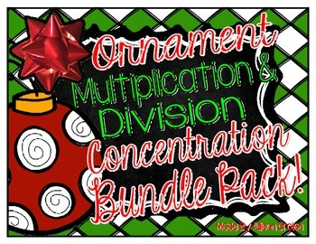 Christmas Ornament Multiplication & Division {A Concentration Game}