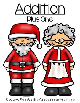 Christmas Math Quick and Easy to Prep Addition Plus One Center Game