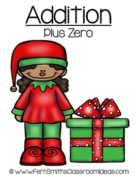 Christmas Math Quick and Easy to Prep Addition Plus Zero Center Game