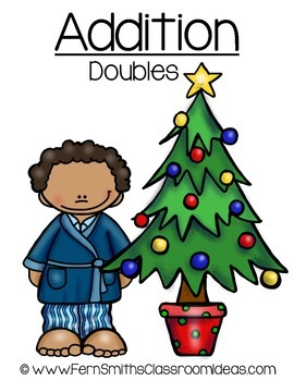 Christmas Quick and Easy to Prep Addition Math Center for Addition Doubles