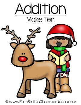Christmas Math Quick and Easy to Prep Addition Make Ten Center Game