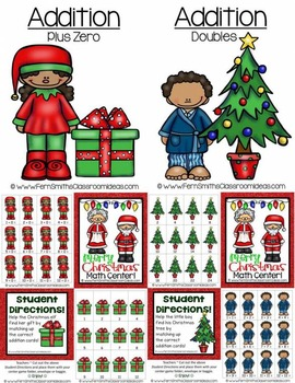 Christmas Math Quick and Easy to Prep Addition Center Games Bundle