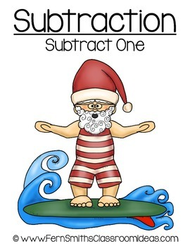 Christmas Math Quick and Easy to Prep Subtraction Subtract One Center Game