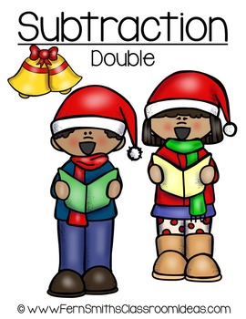 Christmas Math Quick and Easy to Prep Subtraction Doubles Center Game