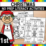 Christmas Literacy Worksheets (1st Grade)