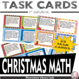 Christmas 1st Grade Math Word Problems Task Cards - Common Core 1.OA.A.1