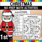 Christmas Math Worksheets (1st Grade)