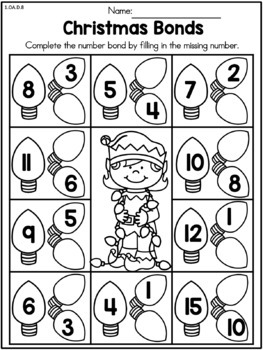 christmas math worksheets st grade by united teaching  tpt christmas math worksheets st grade