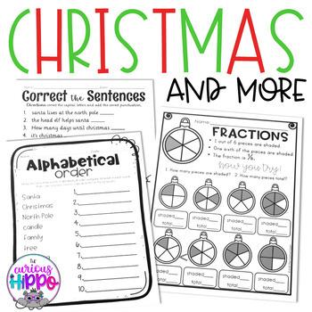 Christmas 1st Grade Pack