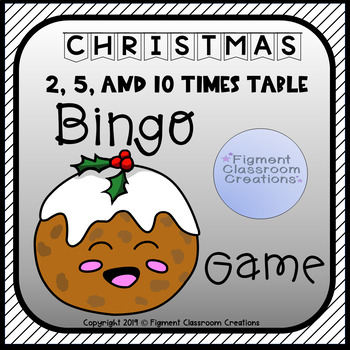 Christmas 2, 5 and 10 Times Tables Bingo Game