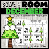 Christmas 2 Digit Addition with Regrouping