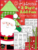 Christmas 2-Digit Addition with Regrouping Color-by-Code P
