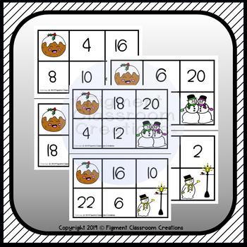Christmas 2 Times Table Bingo Game
