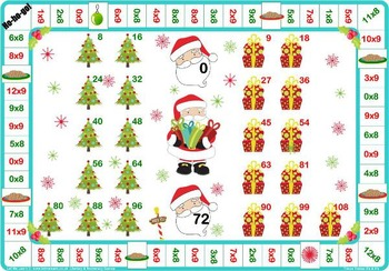Christmas 2 and 10 Times Tables Games