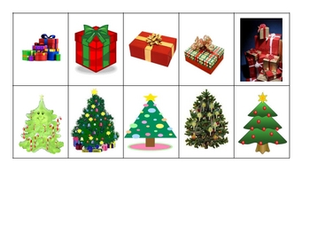 Christmas 2 category picture sort