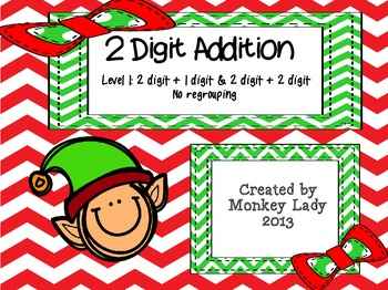 Christmas 2 digit addition Level 1