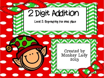 Christmas 2 digit addition Level 2