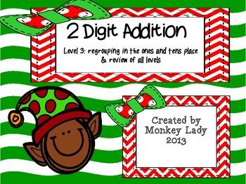 Christmas 2 digit addition Level 3