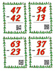 Christmas 2 digit subtraction task cards w/o regrouping; with or w/o QR codes