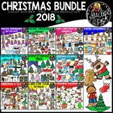Christmas 2018 Clip Art Bundle {Educlips Clipart}