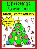 Christmas Math Activities: Christmas Factor Tree Christmas Activity - BW