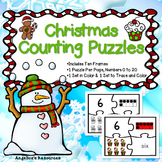 Number Sense 0-20 : Christmas Number Puzzles