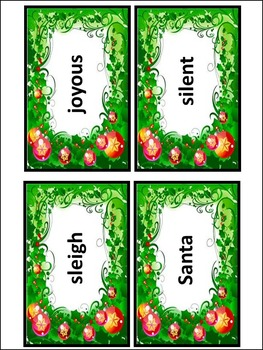 Christmas Spelling Activities: Christmas Words Flash-Card Activity Packet