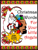 Christmas Spelling Activities: Christmas Words Flash-Card Activities - Color