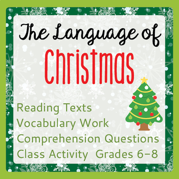 Christmas Informational Texts Activities Language History